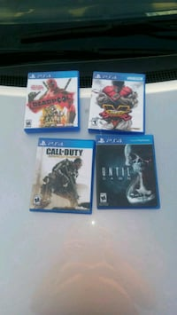 four assorted PS4 game cases Monroe, 48161