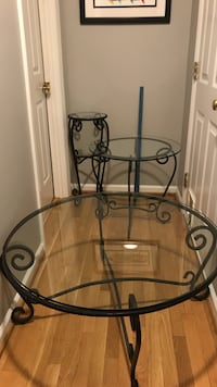 Black metal framed glass top tables Marietta, 30064