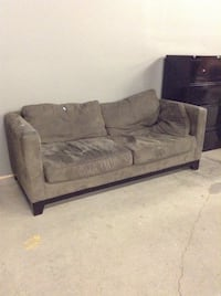 Grey/green sofa at the HFH ReStore  Hamilton, L8H 7P4
