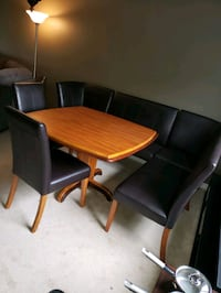 Dinning set two tome wood table and chairs  Halton Hills, L7G 4W2