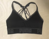 PUMA SPORTS BRA SIZE MEDIUM WOMENS CLOTHING YOGA WORKOUT BLACK Edmonton, T6J
