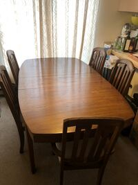 rectangular brown wooden table with six chairs dining set Seattle, 98106