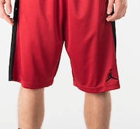 Red air jordan shorts Toronto