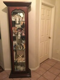 brown wooden framed glass display cabinet Albuquerque, 87113