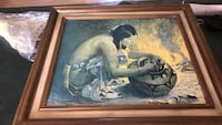 brown wooden framed man and woman painting Albuquerque, 87111