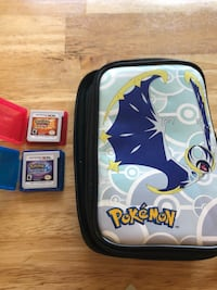 Pokémon 3ds case and two games 140 mi