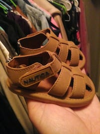 pair of brown leather sandals Houston, 77088