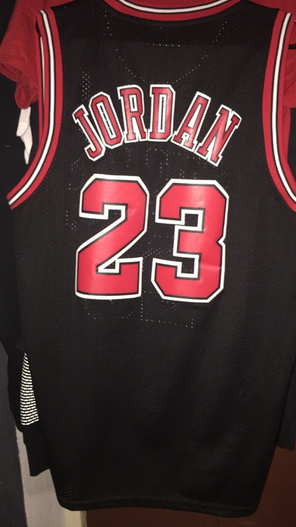hot sales 88d83 0e01e Used black and red michael jordan jersey for sale in Laredo ...