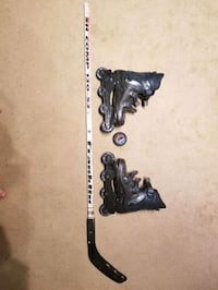 Official NHL Street Hockey Stick, Puck, and Size 10 Roller Blades Manassas, 20111