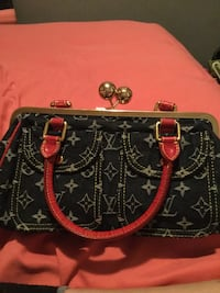 Louis vuitton black and red handbag