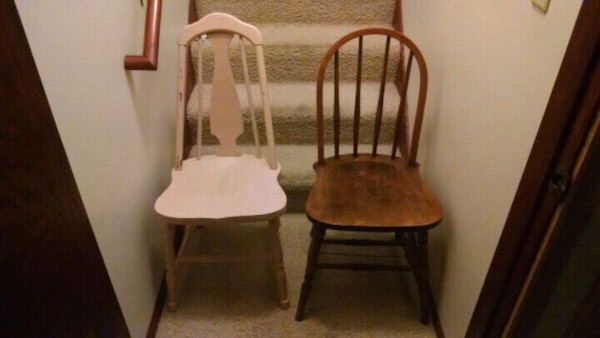 Unmatched pair of antique chairs - make an offer!