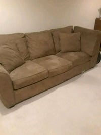 Brown 3 cushion couch  South Amboy, 08879
