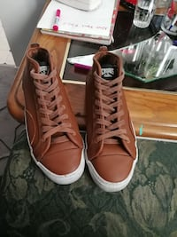 brown Crooks leather high-top sneakers Prince George, V2L 2R4