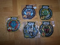 10 STAR WARS FUNKO PATCH AND PINS - new sealed Vaughan