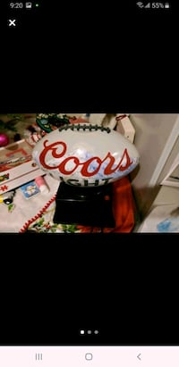 Coors light football shaped popcorn popper