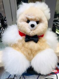 White and brown bear made with Alpaca Fur Springfield, 22150