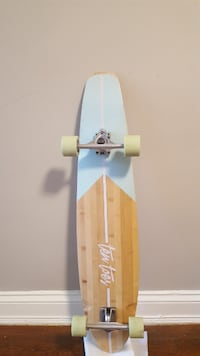 white and yellow skateboard deck null