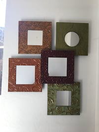five green, maroon and brown wall mirrors Bakersfield, 93312
