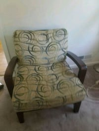 brown and gray floral sofa chair Arlington, 22207