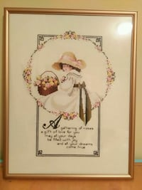 Needlepoint framed picture for your little girl. Surrey, V4N 5C4