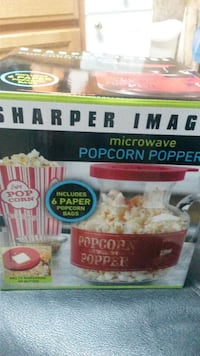 Used Sharper Image Microwave Popcorn Popper Box For Sale In Acworth