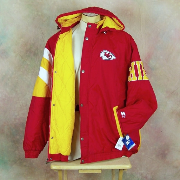 official photos 89678 c452a NFL Official NEW KANSAS CITY CHIEFS FOOTBALL STARTER PRO LINE Winter Jacket  5XL