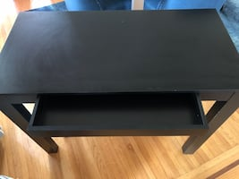 Office table with shallow drawer. Pick up only.