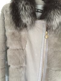 white and brown fur coat Sherwood Park, T8A 1Y5