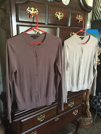 Ann Taylor sweaters. Rose colored is a Size Large. The Grey/Tan is a extra large. $30 each or $50 for both. West Jordan