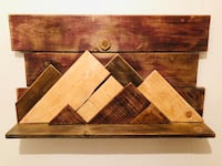 Desert landscape wood wall art with shelf Toronto, M6P 1V7