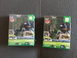 Seattle Seahawks mini figurines