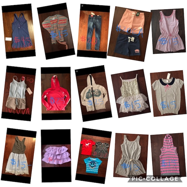Girls clothes size 8/10 and 10 nwt pricing as marked