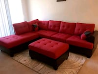Brand New Red Linen Sectional Sofa + Ottoman  Silver Spring, 20902