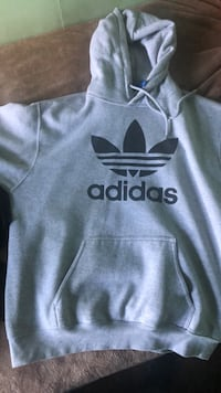 Gray and black adidas pullover hoodie New York, 11238