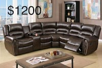 New Sectional Couch with Recliners only $50 down