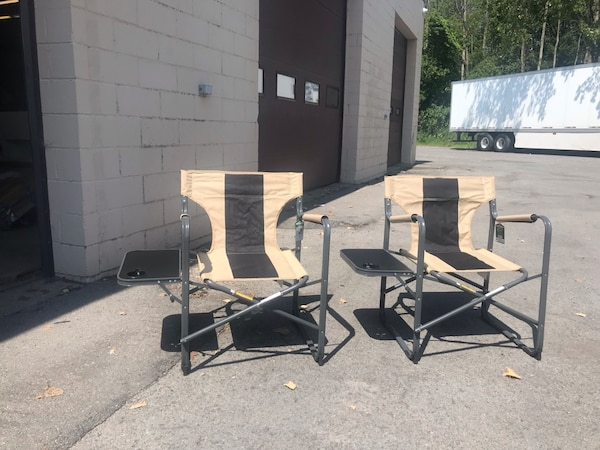 Superb Brand New 2 Folding Camping Chairs With Attached Table Inzonedesignstudio Interior Chair Design Inzonedesignstudiocom