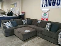 gray sectional sofa with throw pillows El Paso