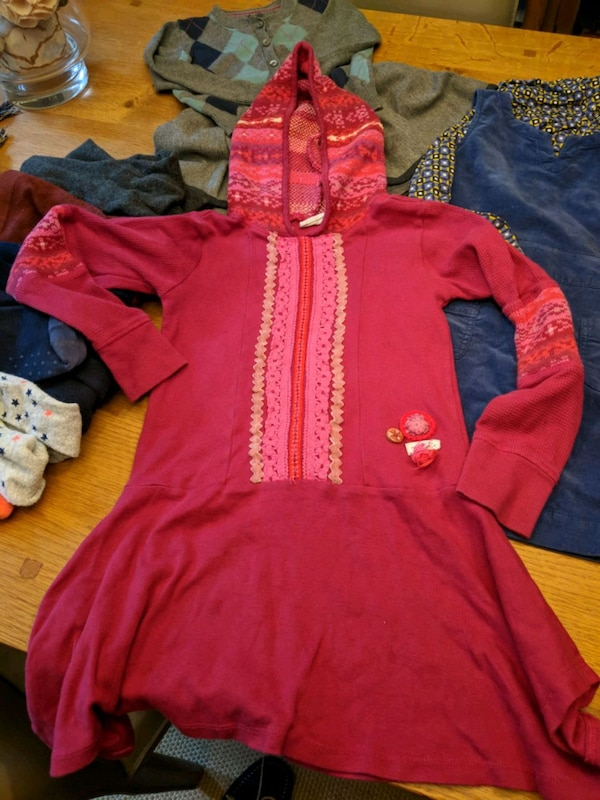 toddler's red and blue hoodie