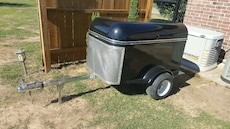 gray and black utility cart