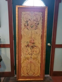 Hand Painted Decorative Victorian Wall Painting Red Lion, 17356