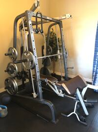 used marcy home gym with olympic weights for sale in port
