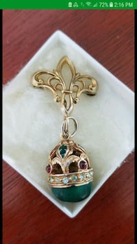 Egg pendant with brooch attachment