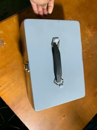 Grey metal Cash box with tray Mississauga