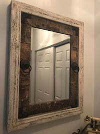 rectangular brown wooden framed mirror Gaithersburg, 20878