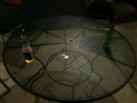 round gray metal patio table Baltimore, 21206