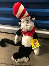 Dr Seuss Cat in the Hat Plush toy 18 mi