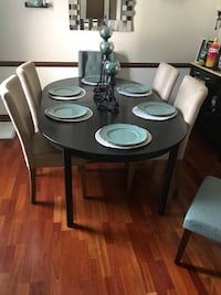 Black dining room table, don't just favorite the table message me and come get it :)  Virginia Beach, 23464