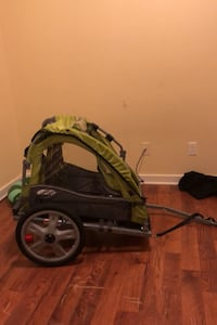 A instep bike trailer for toddlers