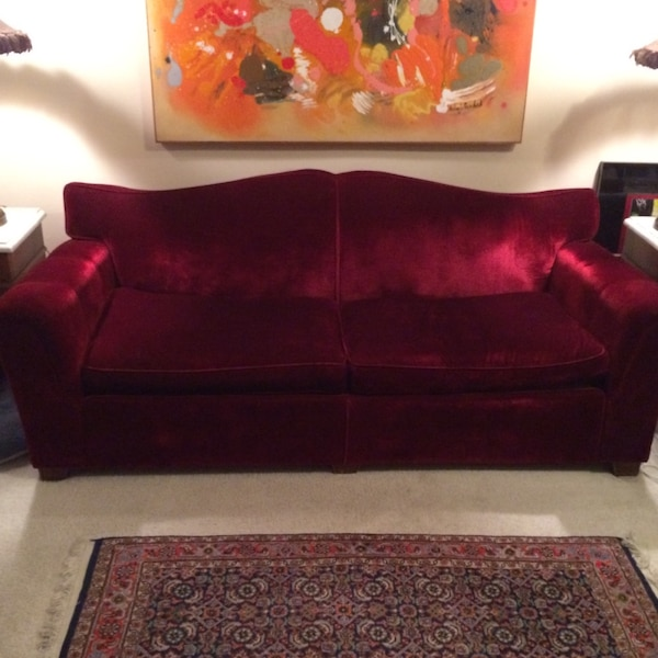 Used 1920\'s Red Velvet Couch and Chair for sale in Philadelphia - letgo