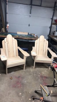 Solid eastern white pine Adirondack chairs 389 mi